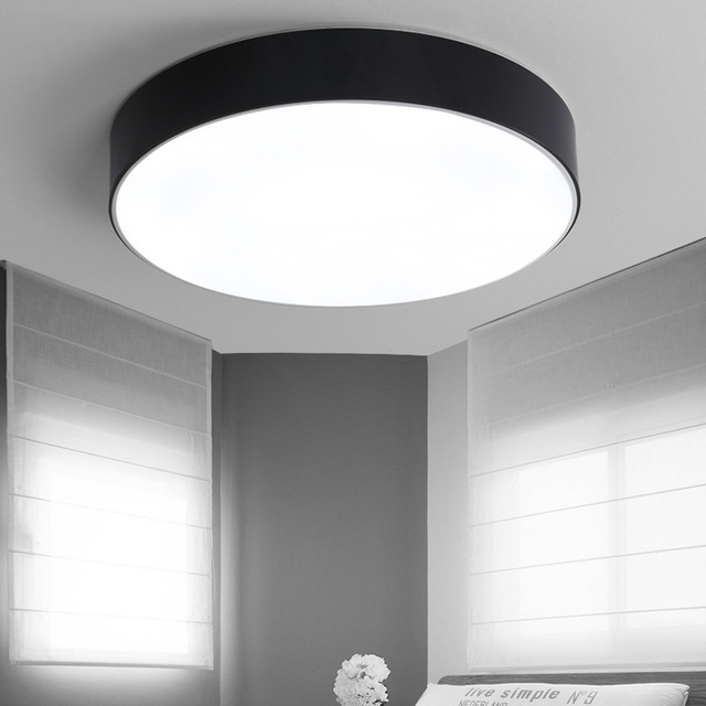 Modern Remote Control Round Acrylic Alloy LED Ceiling Lamp Simple Decoration fixtures For dining room living room Lighting