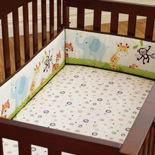 4Pcs Set Cotton Baby Infant Cot Crib Bumper Safety Protector Toddler Infantile Cushion Pad Baby Care