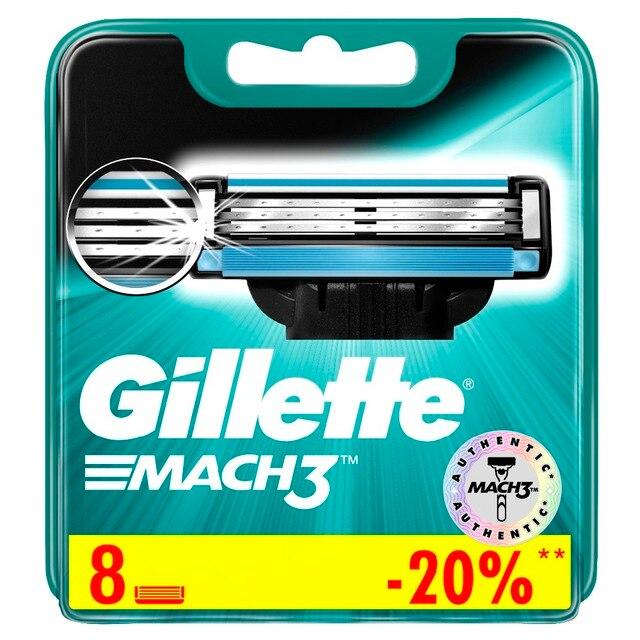 Сменные кассеты Gillette Mach 3 8 шт.