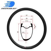 400g Asymmetric 700c 38mm x 25mm U Shaped Carbon Tubeless Clincher Cyclocross CX Bike Rim Bicycle Rims Road Disc Wheel 24H 28H