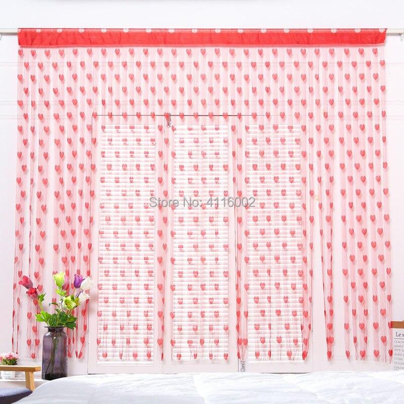 Permalink to 3M Wedding Backdrop Curtain Love Heart Tassel Screens Room Divider Rod Pocket Door Sheer Valance Curtain Party Decoration Props