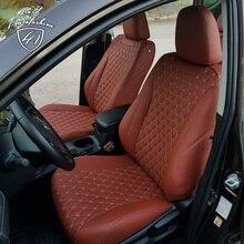 Для Toyota RAV4 XA40 2013- Модельные авточехлы из экокожи (Модель Байрон)
