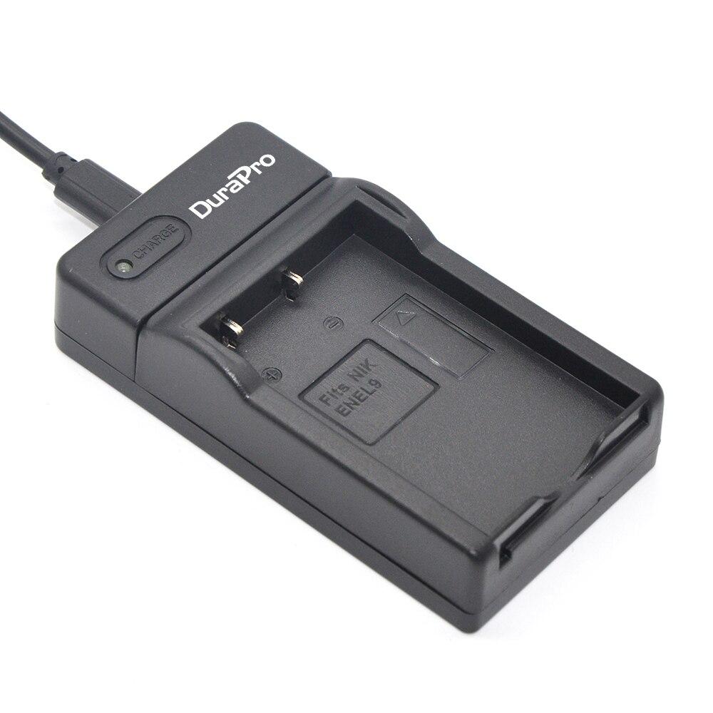 DuraprO EN EL9A EN EL9A ENEL9A EL9 Digital Camera Battery USB Charger for Nikon D60 D40