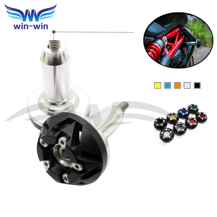 high quality Front & Rear CNC Axle Fork Crash Sliders Cap Wheel Protector aluminum Drop Resistance Cups for Suzuki motorcycle набор свечей me to you мишка тедди 7х9х14 см 6 шт