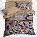 Еще 4 шт Коричневые Серые деревянные цветные кнопки 3D принт хлопок сатин один пододеяльник комплект постельного белья наволочка простыня