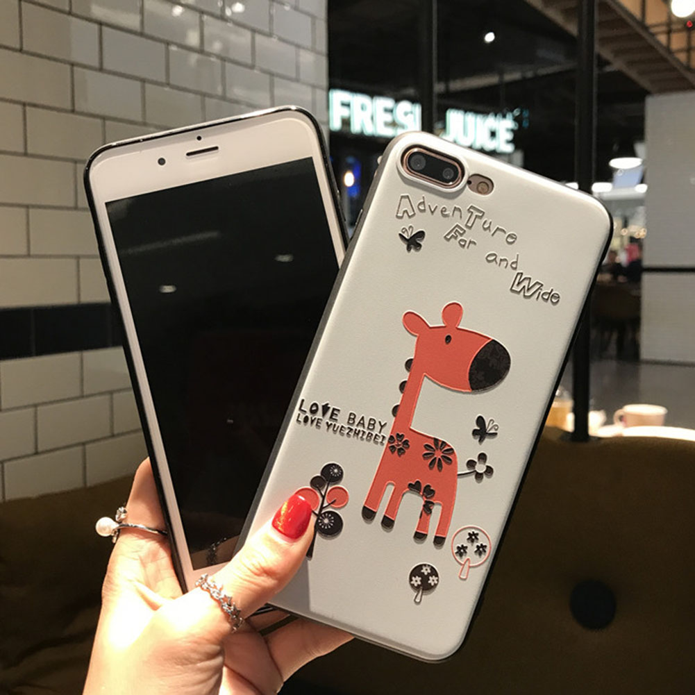 FancyQbue Funny Pattern Silicone Case Animal Cartoon TPU Phone Case For iPhone 6/5 For iPhone 6s 6/7/8 Plus X