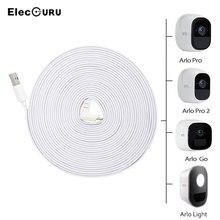 29,5 футов/9 м зарядный кабель для Arlo Pro 2/Pro/Arlo Light/Arlo Go камера наблюдения на батарее зарядное устройство белый Всепогодный кабель питания