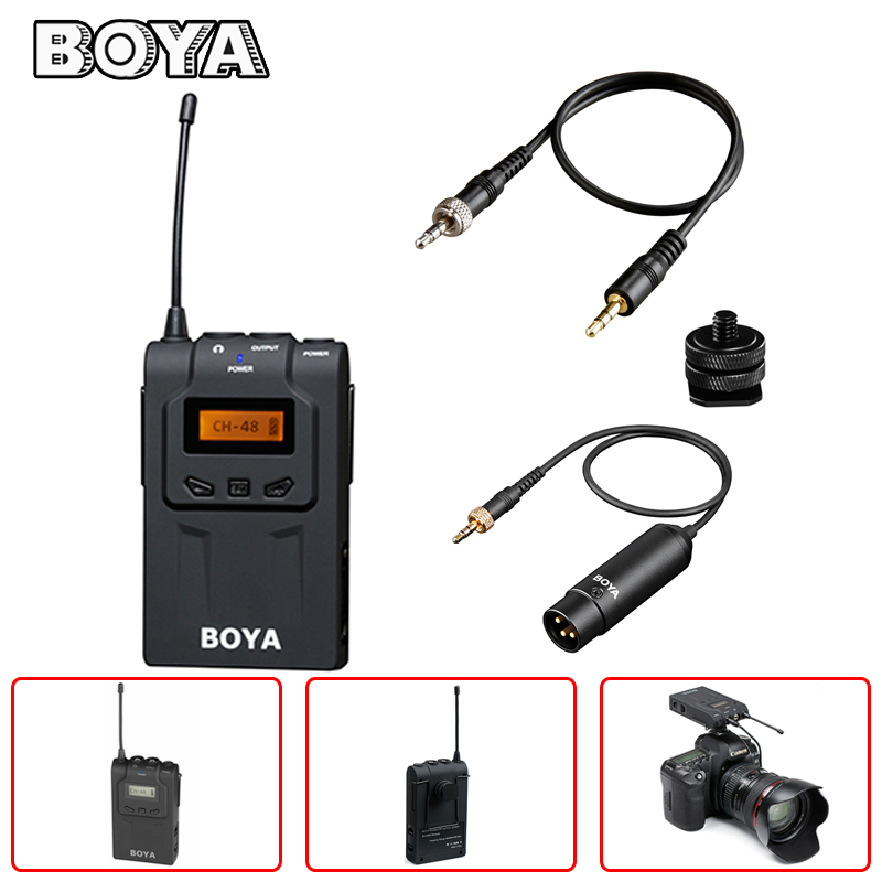 BOYA BY-WM6R UHF Wireless Microphone Receiver for Canon Nikon Sony Panasonic DSLR Camera Camcorder ENG EFP Video Mic Accessories boya uhf wireless lavalier microphone recorder system for video interview broadcast mic canon nikon dslr camera sony camcorder