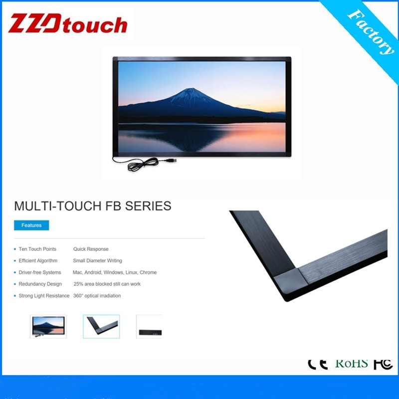 Image 5 - ZZDtouch 55 inch IR touch frame 10 points usb infrared touch screen panel multi touchscreen overlay for touch screen monitor pc-in Touch Screen Panels from Computer & Office