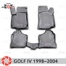 Коврики для Volkswagen Гольф 4 1998 ~ 2004 ковры Нескользящие полиуретановые грязи защиты подкладке автомобиля средства укладки волос