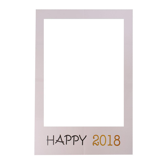 Paperboard Photo Booth Frame Happy Birthday Photo Booth Props 30th
