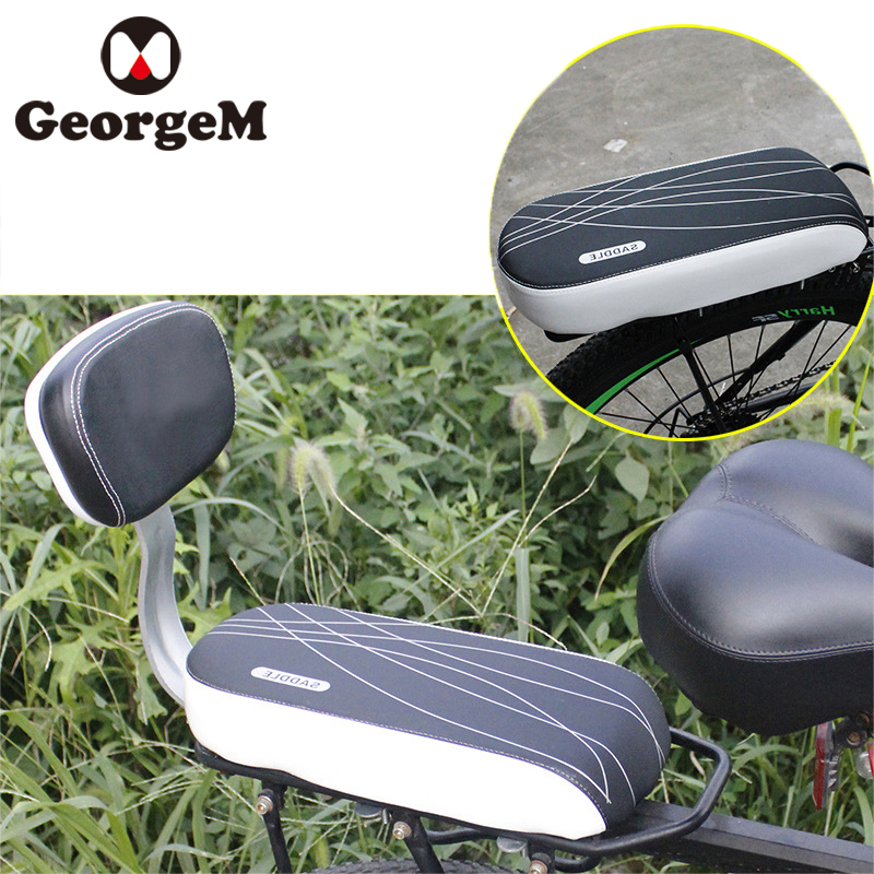 GeorgeM Bicycle Tail Rear Saddle Pad MTB Road Folding Bike Soft Seats Cushions Back Prot ...