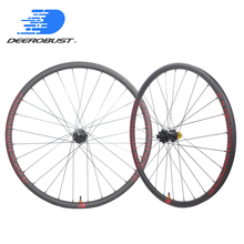 Deercycles 350S J bend 6 Bolts Thru Axle 23.5mm XC Carbon MTB wheels Clincher Tubeless 26er 27.5er/650B 29er Hookless 32H 32H