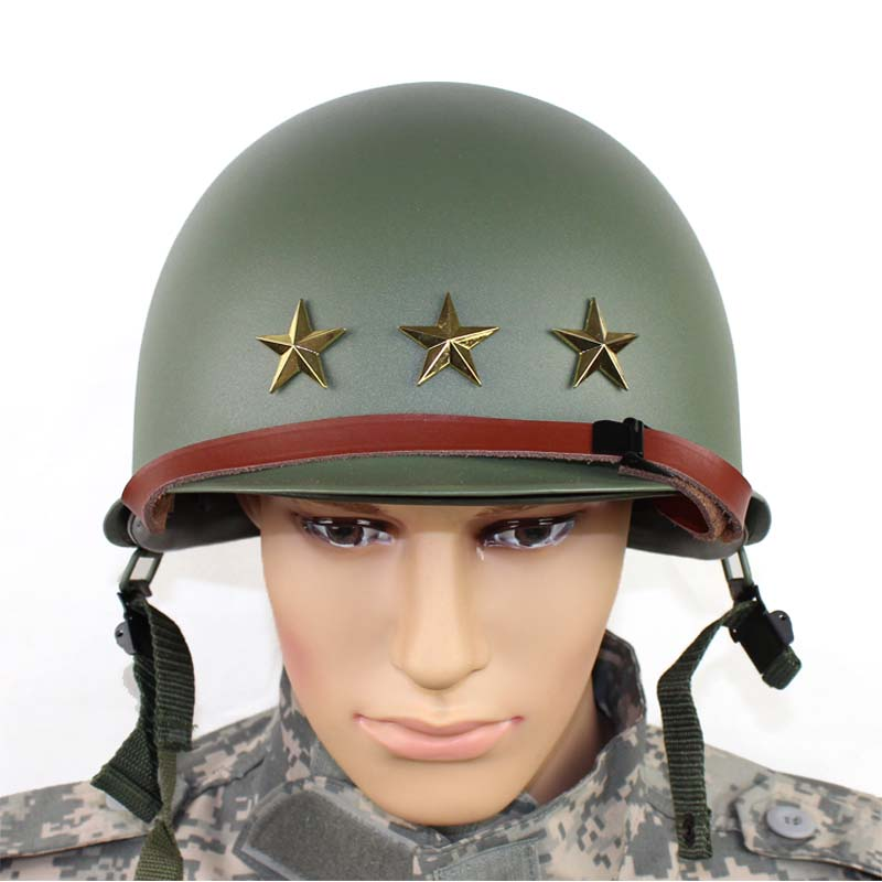 MILITECH USA M1 Replica Helmet With inner helmet M1 Double Decker Helmet World War USA Army