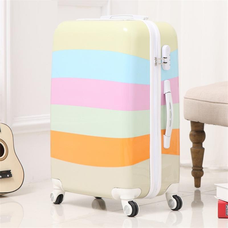 Bavul Valise Enfant Mala Resväska Med Hjul Koffer Färgrik Maleta - Väskor för bagage och resor - Foto 2