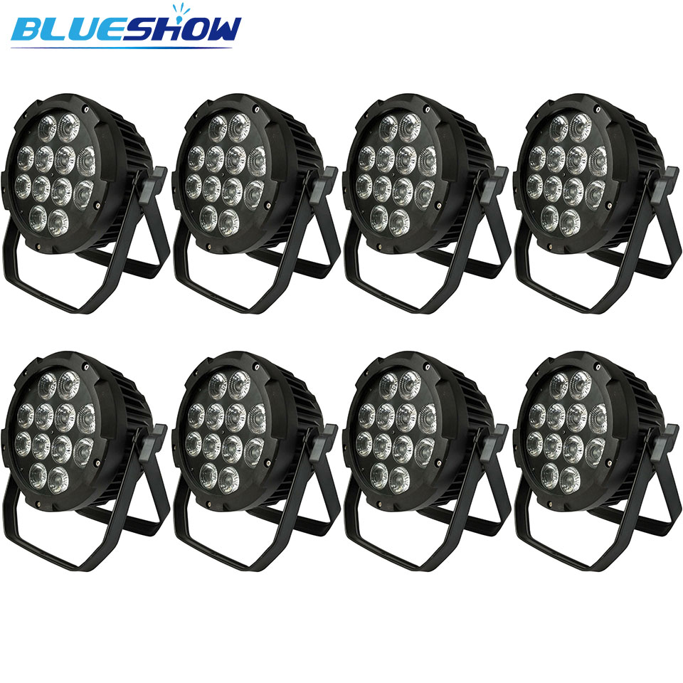 no tax custom 8pcs/Lot, slim <font><b>Led</b></font> <font><b>par</b></font> Light waterproof rgbw 12x10w 4in1 outdoor <font><b>par</b></font> <font><b>led</b></font> <font><b>12x12w</b></font> rgbwa 5in1 <font><b>par</b></font> 12x15w rgbwauv 6in1 image