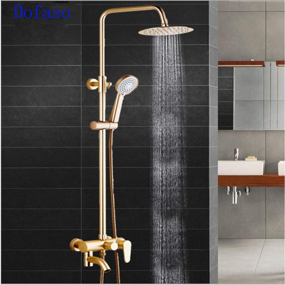 Online Shop Dofaso quality antique golden shower faucet with all ...