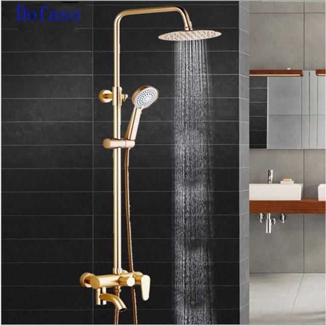 Dofaso luxury shower kit bath set Rose bathroom antique faucet for ...