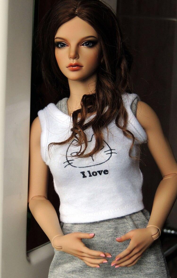 HeHeBJD 1/3 schöne mädchen Gnade freies augen harz modell hohe qualität spielzeug-in Puppen aus Spielzeug und Hobbys bei  Gruppe 3