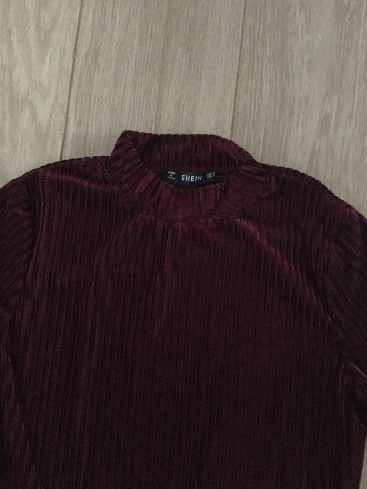 Burgundy Modern Lady Mock Neck Cord Stand Collar Mid Waist Long Sleeve Bodysuit Autumn Women Elegant Bodysuits photo review