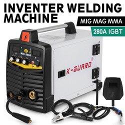 Spawarka inwerterowa MIG 280A IGBT MIG i MMA 2 w 1 przenośna spawarka