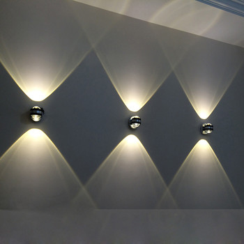 Two-sided LED wall lamp 2W 6W led modern indoor hotel decoration light living room bedroom bedside TV background picture lamps