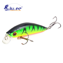 Купить с кэшбэком 1 Pcs Laser Wobblers Tackle 3D Eyes Sinking Minnow Fishing Lure Crankbait 6 # Hooks 7cm 8g Artificial Bait Dive 0.5-1.5m