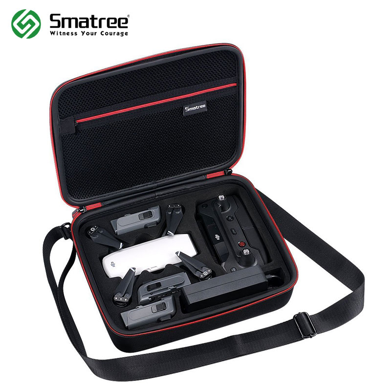Smatree D400 Storage Bag Carrying Case for DJI Spark Drone/ Remote Control/ Batteries safety transport travel hardshell drone case for dji goggles vr glasses mavic pro bag for dji spark box storage accessories