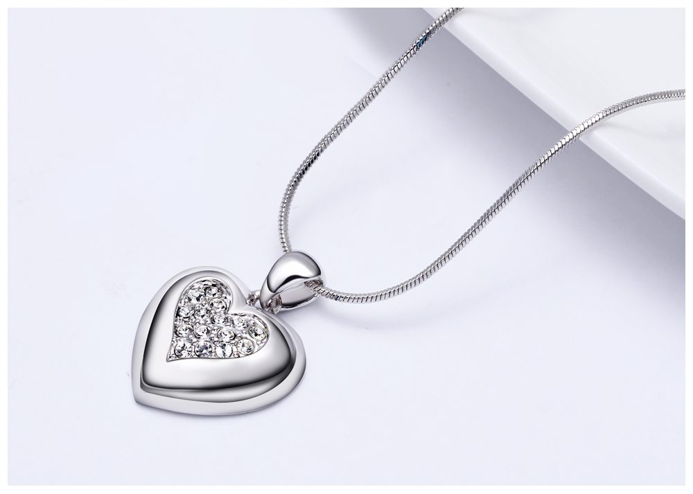 DreamCarnival 1989 Flash Deal Sales Party Jewelry parure Bijoux femme Pink Crystals Heart Pendant Necklace for Women 18N1019 15