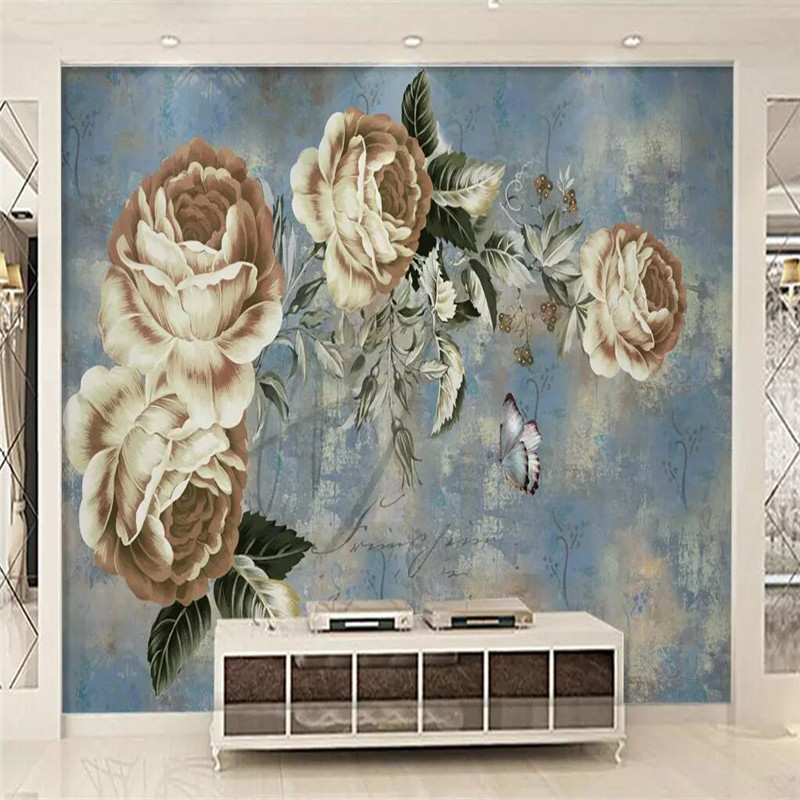 European TV background wall abstract background wall custom high end mural factory wholesale wallpaper mural photo wall in Fabric Textile Wallcoverings from Home Improvement
