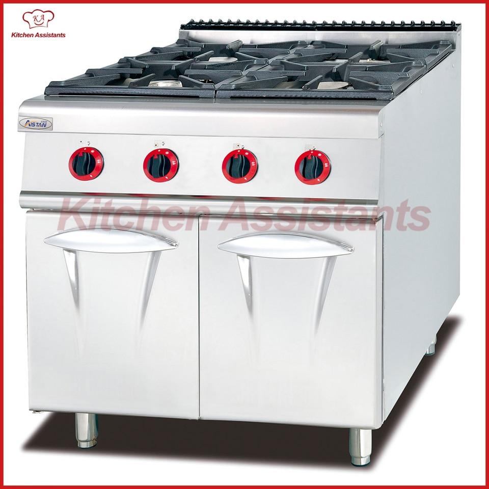 ₩GH787 gas con 4 quemador con gabinete de cocina - a580