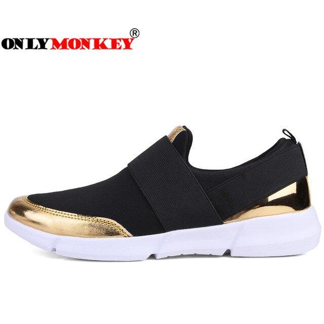Summer Slip on Bordered Walking Sneakers Women Durable & Non-slip Platform Shoes Soft & Lightweight Casual Shoes Women 35-42