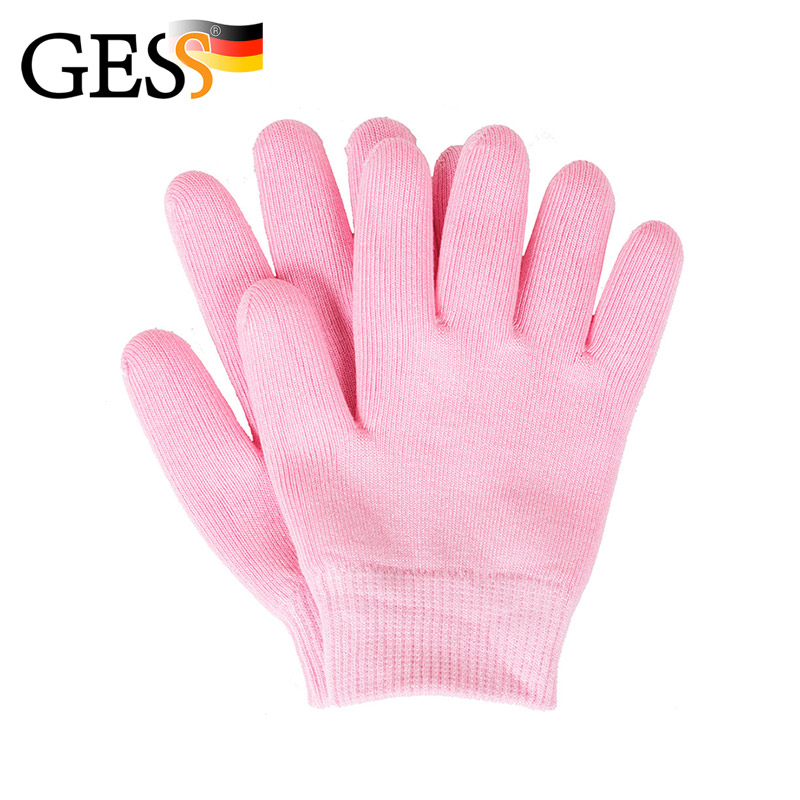 SWEETY Pink Silicone Whiten Skin Moisturizing Treatment Gel SPA Gloves Hand Mask Care High Quality Beauty Tools GESS 5in1 3mhz ultrasonic massager galvanic spa led photon ionic face cleaner ultrasound skin care beauty device facial lift firming