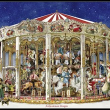 Cross-Stitch-Sets Embroidery Ct Needlework Handmade Christmas-Carousel-Counted The