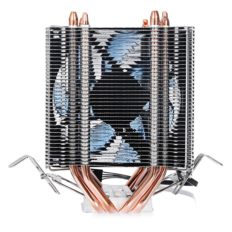Aluminum LED CPU Cooler Fan Heatsink Radiator For Intel LAG1156/1155/1150/775 For AMD New Computer cooler Cooling Fan For CPU 2 heatpipes blue led cpu cooling fan 4pin 120mm cpu cooler fan radiator aluminum heatsink for lga 1155 1156 1150 775 amd