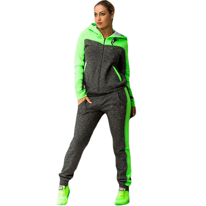 Sport Yoga Trainning Exercise Suit Women Short Sleeve Pullover Tops +Pants Set Tracksuit Sportswear Fitness Sets ...