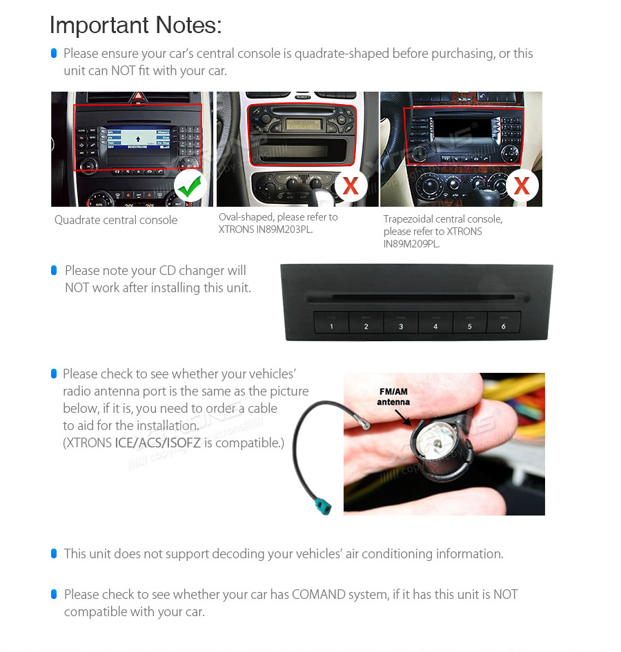 Xtrons Plug Play Design Android 9 0 Car Stereo Multimedia Player For Mercedes Benz W245 W169 W906 W639 Gps Navigation No Dvd Car Multimedia Player Aliexpress