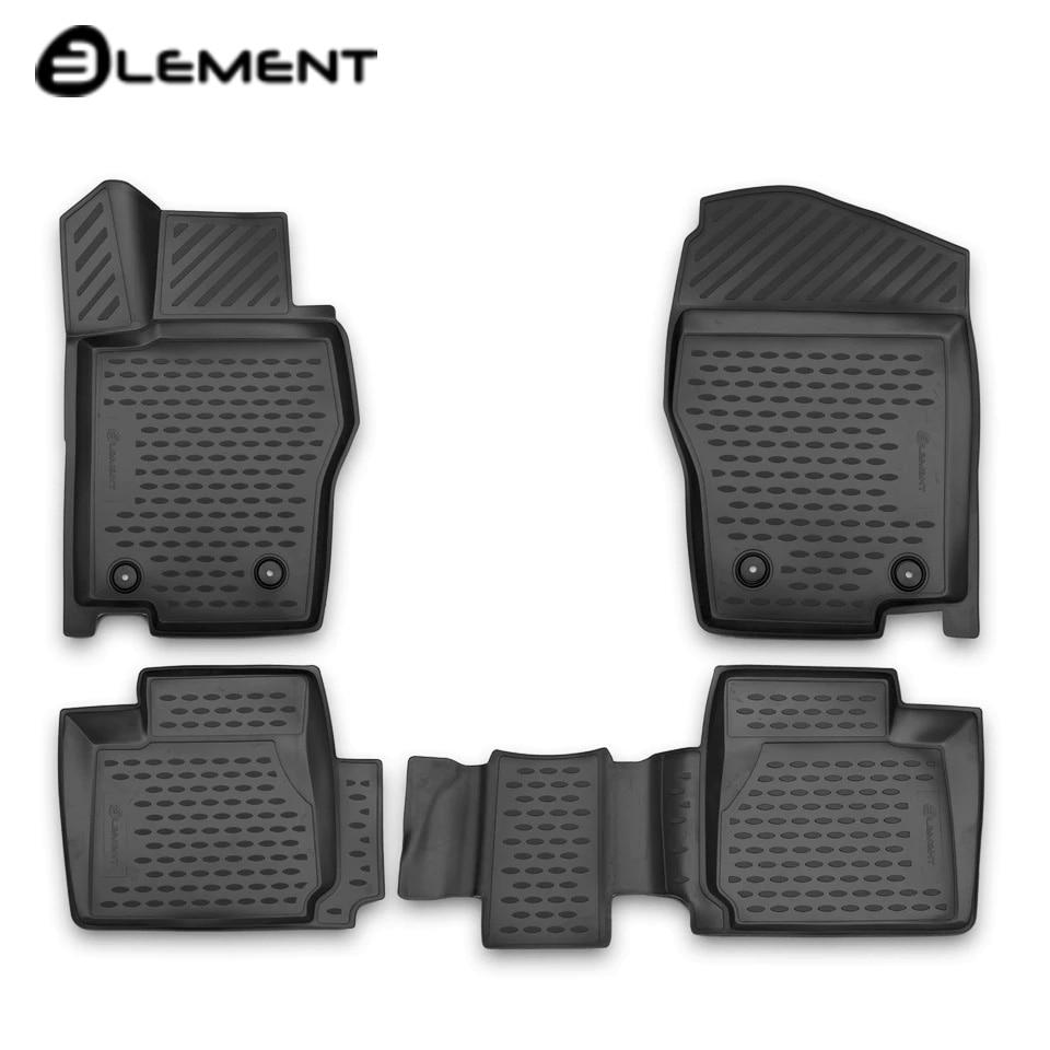 For Haval H2 2014-2019 3D floor mats into saloon 4 pcs/set Element ELEMENT3D9901210k for haval h6 fwd 2014 2019 3d floor mats into saloon 4 pcs set element element3d9922210k