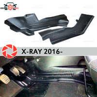 Plaque de doublure intérieure sous les pieds garniture pour Lada x-ray 2016-garniture accessoires protection tapis décoration voiture style