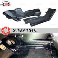 Plate of inner lining under feet trim for Lada X-Ray 2016- trim accessories protection carpet decoration car styling