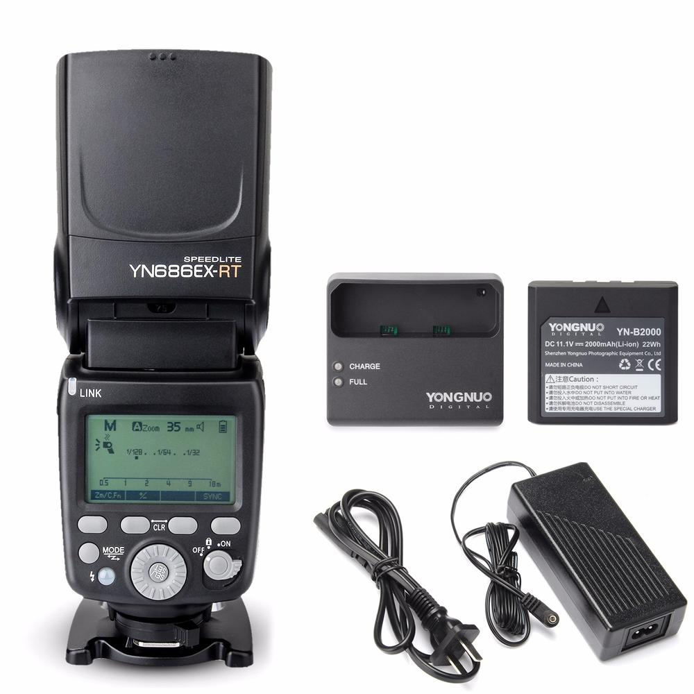 YONGNUO YN686EX-RT Lithium Battery Speedlite 1/8000s TTL/M/MULTI Wireless Flash For Canon yongnuo 3x yn 600ex rt ii 2 4g wireless hss 1 8000s master flash speedlite yn e3 rt flash trigger for canon eos camera 5d 6d