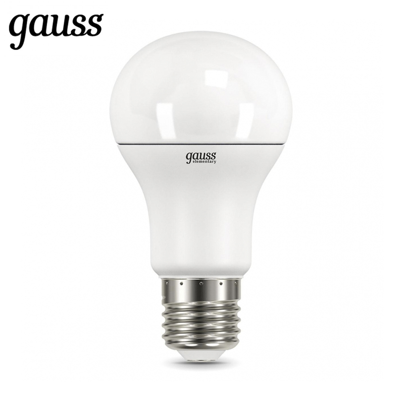 LED lamp bulb diode E27 A60 7W 10W 12W 15W 20W 25W 2700K 4000K 6500K Gauss Light Cold White Warm White Lampada Lamp Light r7s 10w 700lm 3500k 48 smd 5730 led warm white corn lamp white silvery grey 90 265v