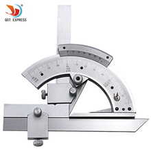 QSTEXPRESS 0-320 Universal Stainless Steel Bevel Protractor Angular Dial ruler goniometer