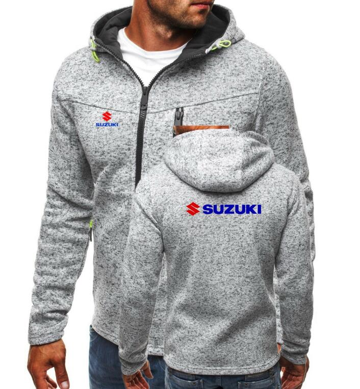 Hoodies & Sweatshirts Good 2018 Brand Suzuki Print Hoodie Zipper Cardigan Hoodies Men Fashion Tracksuit Male Sweatshirt Hoody Mens Purpose Tour Xxl Autumn