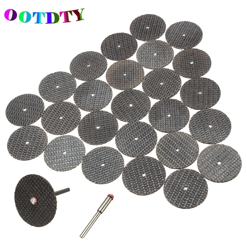 OOTDTY 26pcs/lot Metal Cutting Disc For Dremel Grinder Rotary Circular Saw Blade Dremel Wheel Cutting Sanding Disc free shipping golden finish led color changing bathroom tub faucet widespread spout mixer tap