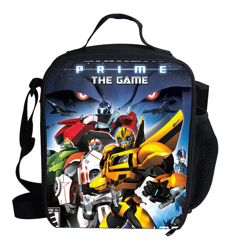 Cute Thermal Insulated Lunch Bag For Kids School Lunch Optimus BUMBLEBEE Megatron Cooler Lunch Bag For Children Boys Girls