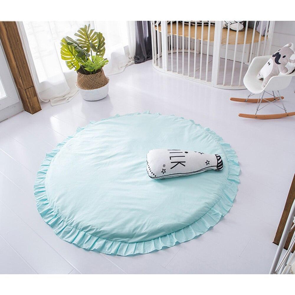 Tapis de jeu bébé enfants jeu couverture diamètre 120 CM tapis de sol enfants chambre décoration tapis doux - 2