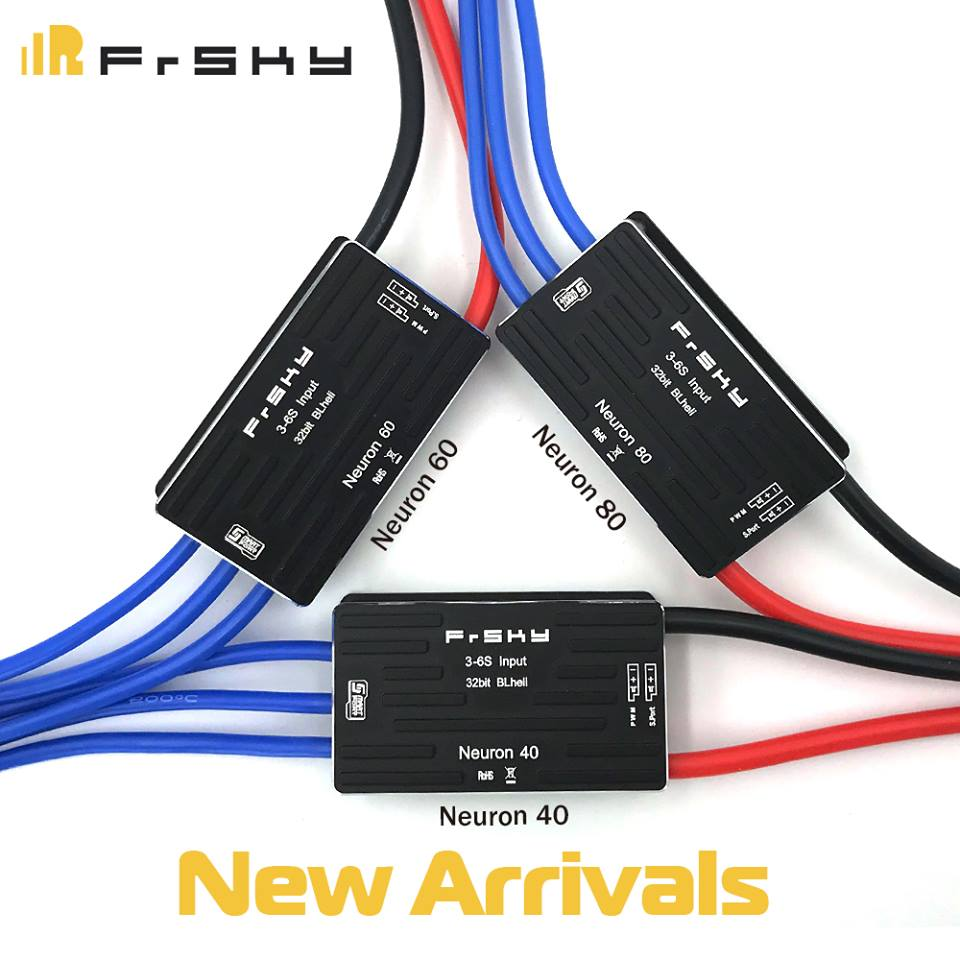 Frsky Neuron 40A 60A 80A 32 Bit 3-6S Input Brushless ESC Built-in Telemetry for FPV RC Airplane image