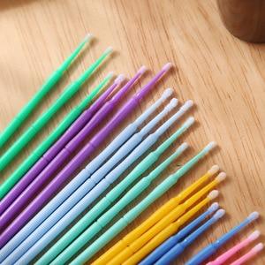 Image 3 - 1000pcs/pack Disposable Makeup Brushes Swab Microbrushes Eyelash Extension Tools Individual Lash Removing Tools