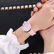 Личность Reloj Mujer Повседневное часы кожа высокое качество Классические кварцевые платье Для женщин часы Пары Наручные часы новое поступление